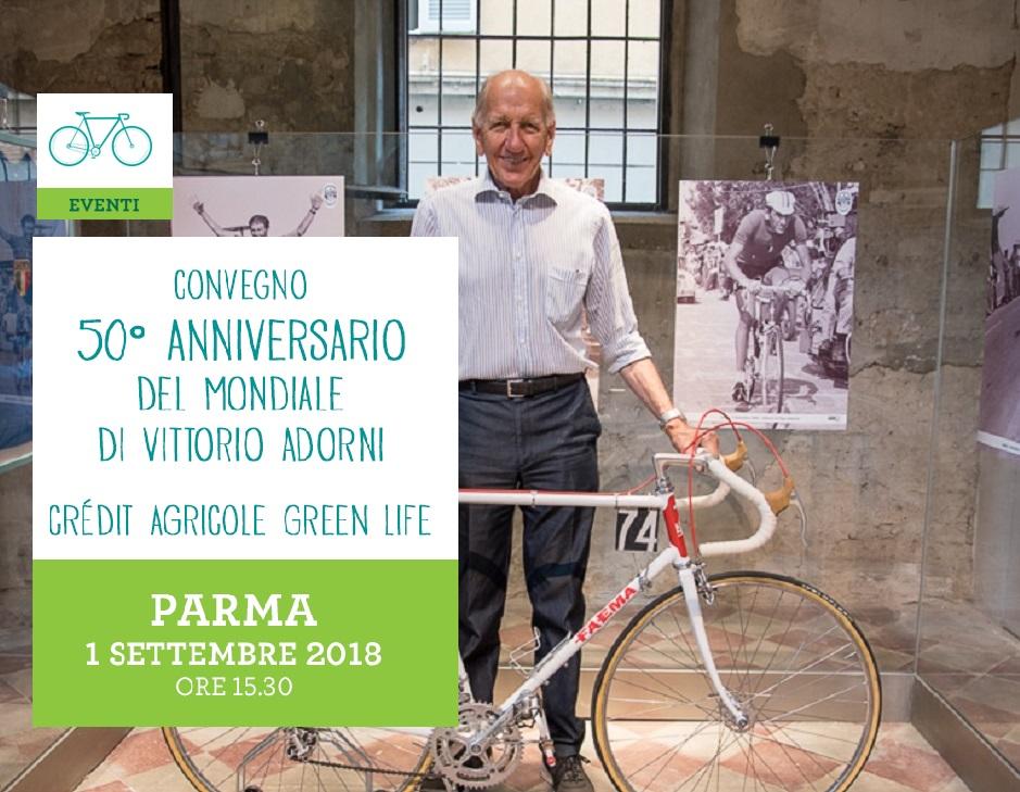 """""""1968-2018: cinquantesimo anniversario del Mondiale di ciclismo conquistato da Vittorio Adorni""""."""